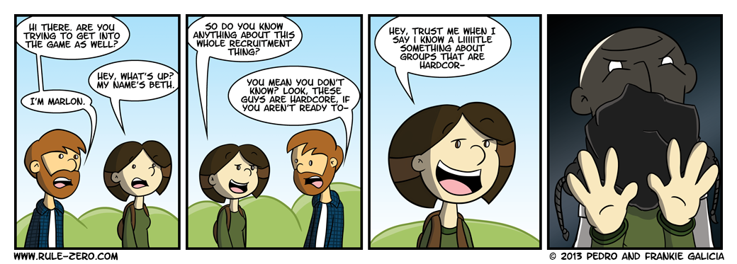 """We were sorta tempted to call this comic """"The End.""""  But we aren't that mean."""